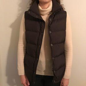 J Crew Brown Puffer Vest